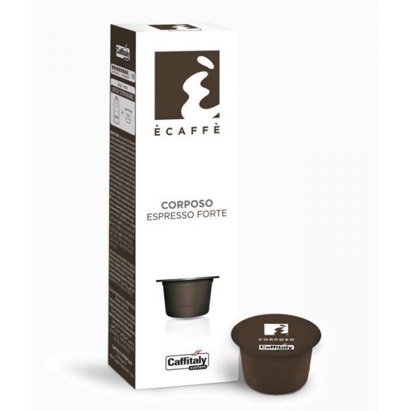 Corposo espresso forte caffè Caffitaly 10 capsule