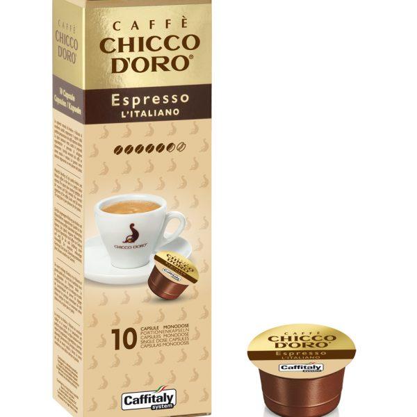 Chicco D'oro Espresso Italiano caffè Caffitaly 10 capsule