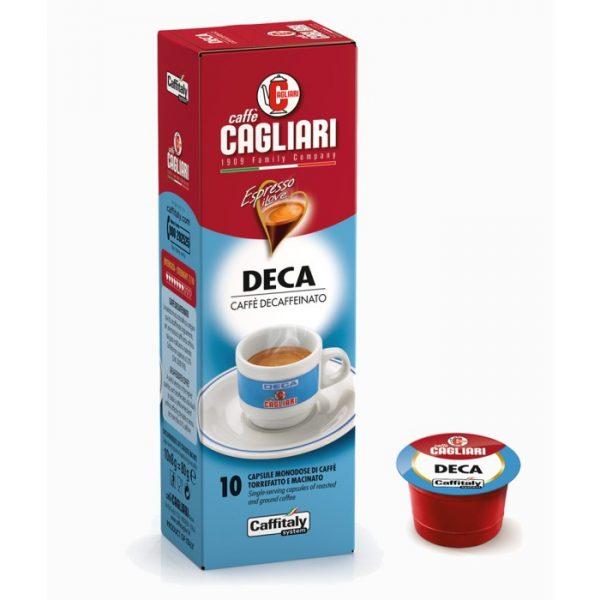 Deca Cagliari caffè Decaffeinato Caffitaly 10 capsule