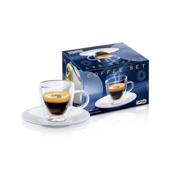 Set 2 tazzine per caffè in vetro