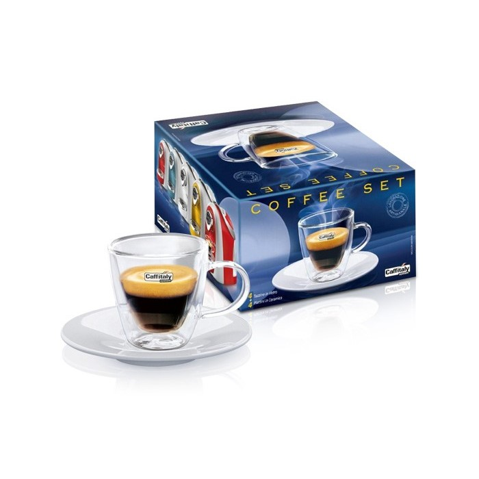 Set 4 tazzine per caffè in vetro