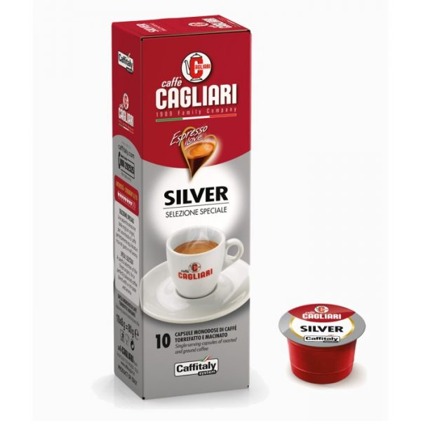 Silver caffè Cagliari Caffitaly 10 capsule