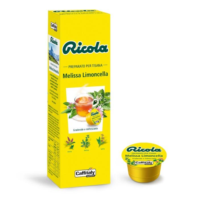 Tisana alla Melissa e Limoncella senza glutine di Ricola Caffitaly 10 capsule