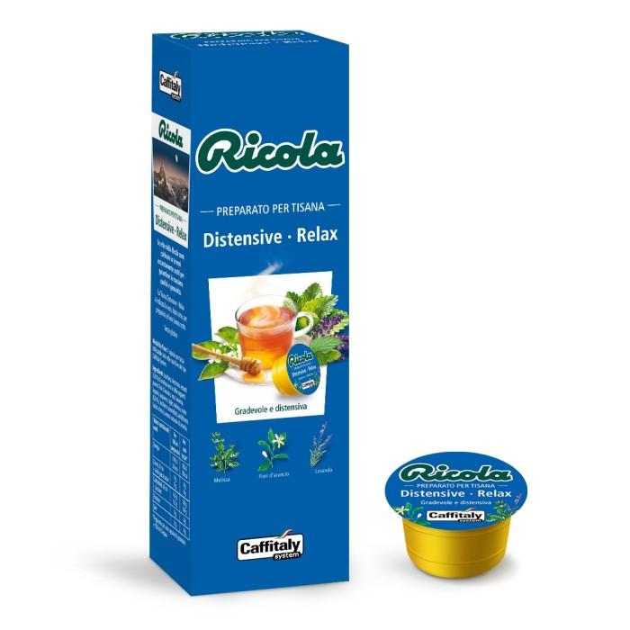 Tisana distensive relax senza glutine di Ricola Caffitaly 10 capsule